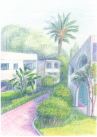 Ibiza vacation thumbnail sketch